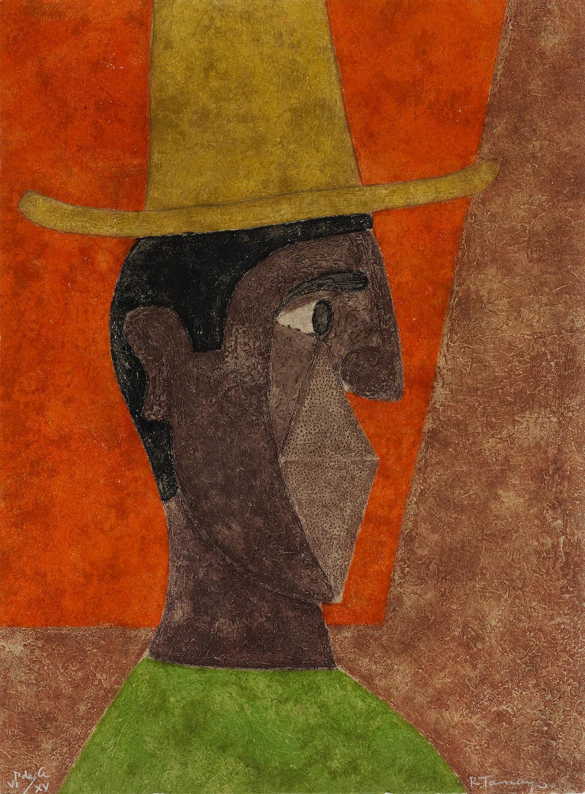 Rufino Tamayo-Cabeza Con Sombrero (Head With Hat)-1980