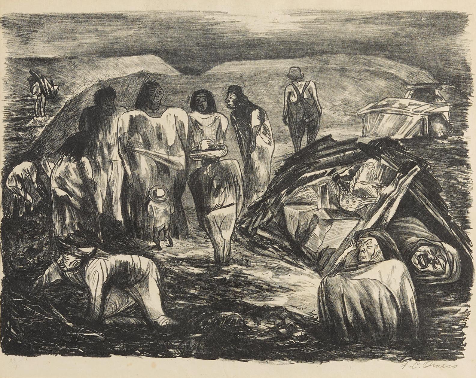 Jose Clemente Orozco-Basurero (Scavengers)-1935