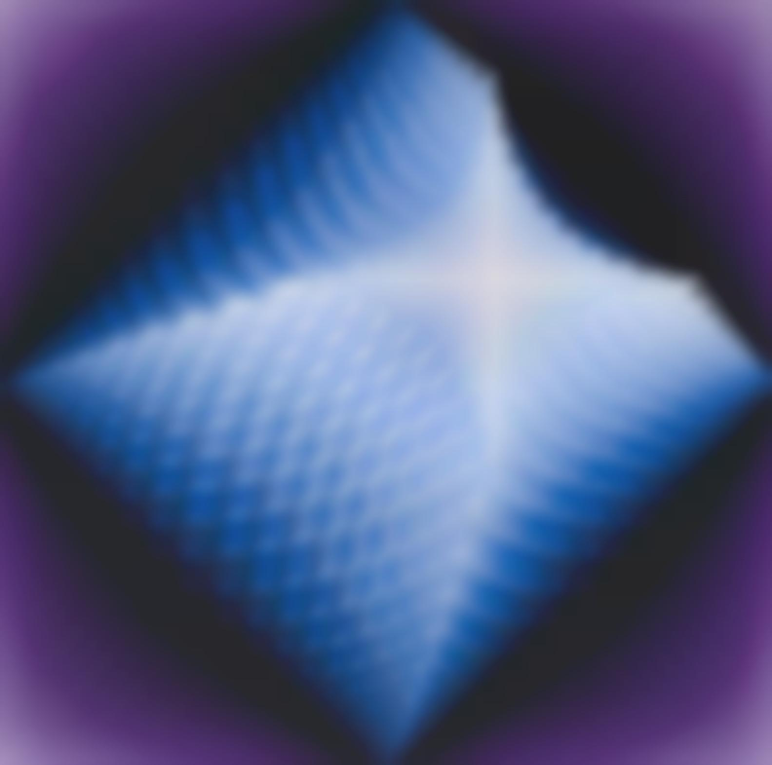 Jean-Pierre Vasarely - Structure Pyramidale Bleu-Violet-1977