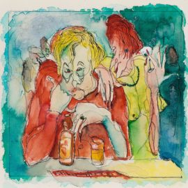 Andy Warhol-Untitled (Man And A Woman In A Bar)-1947