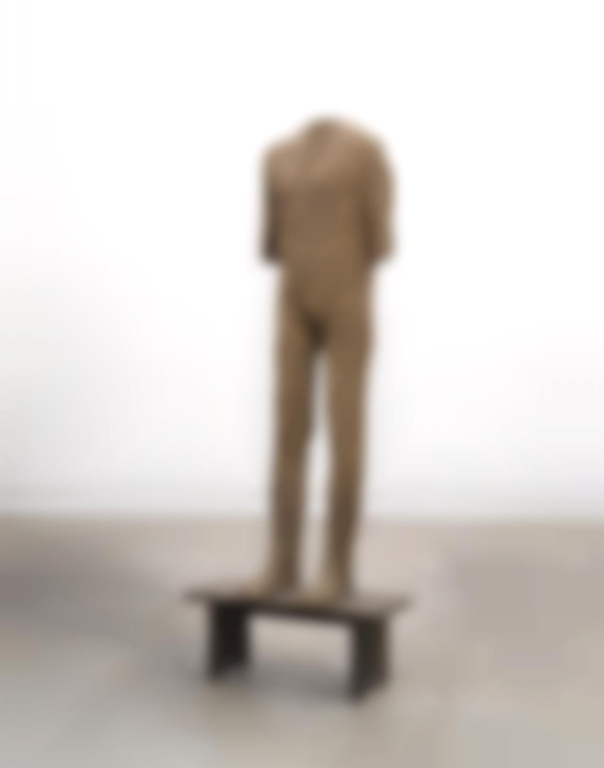 Magdalena Abakanowicz-Standing Figure On Bench-1988
