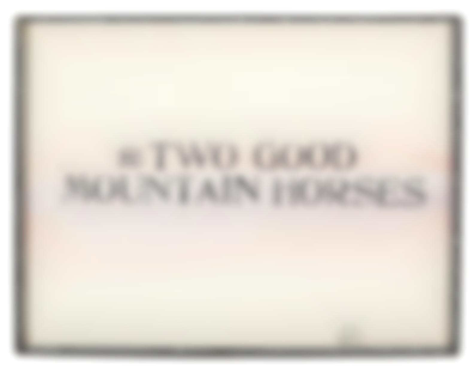 Edward Kienholz-For Two Good Mountain Horses-1969