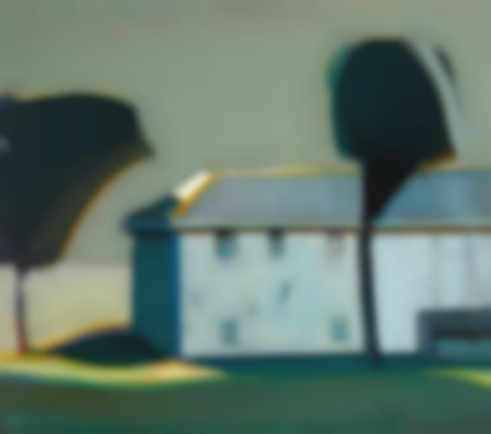 Raimonds Staprans-Landscape With The Encroaching Trees-1992