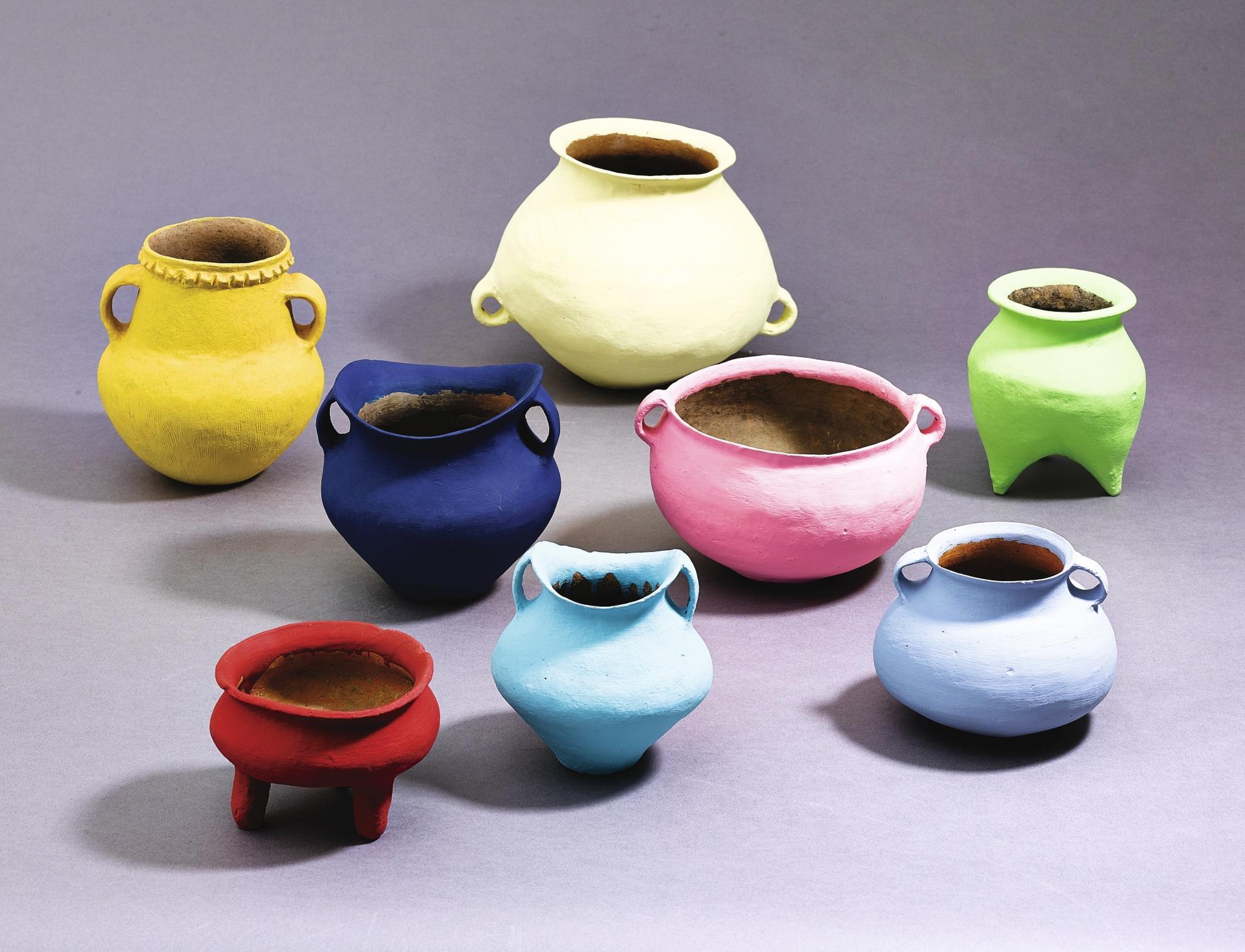 Ai Weiwei-Coloured Vases (Nine Works)-2006