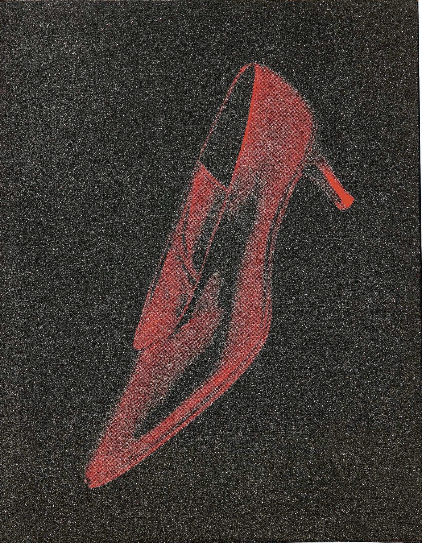 Andy Warhol-Diamond Dust Red Shoe-1980