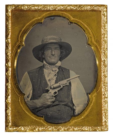 Anonymous American Photographer - Man With Colt Dragoon-1850