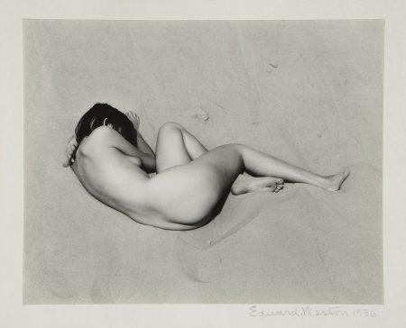 Edward Weston-Nude On Sand-1936
