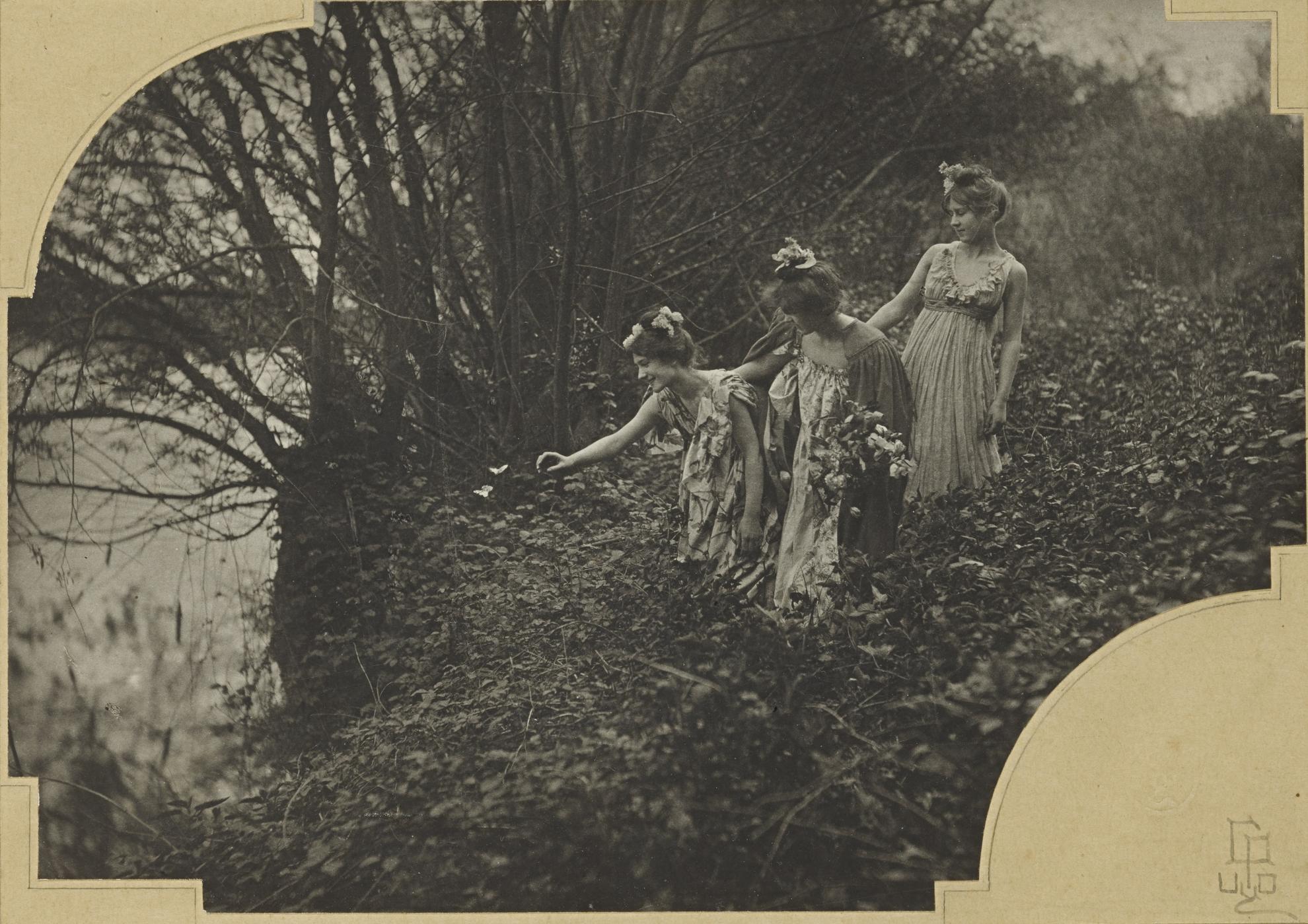 Emile Joachim Constant Puyo - Les Papillons Blancs-1900
