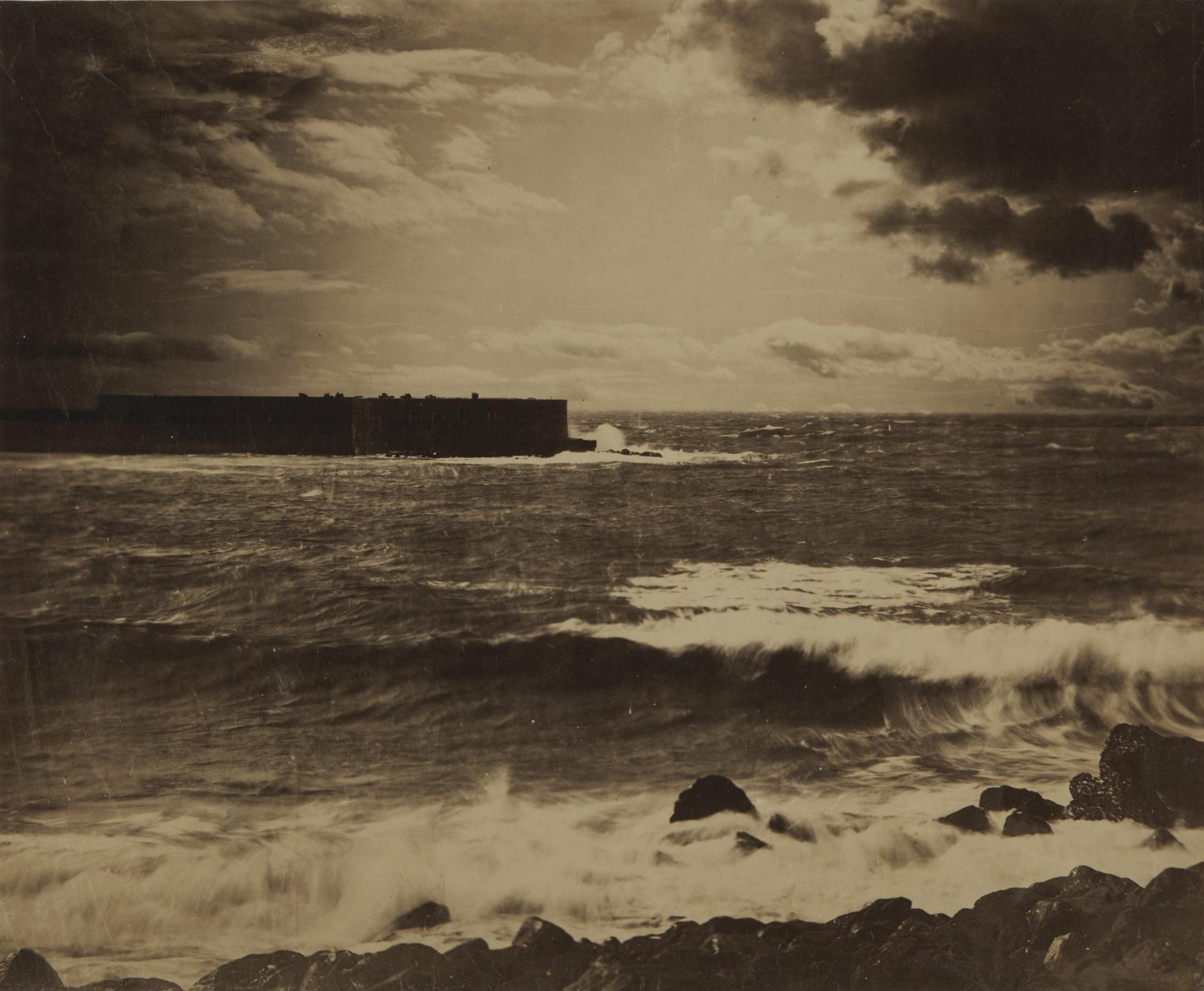 Gustave Le Gray-Grande Vague. Cette (The Great Wave, Sete)-1857