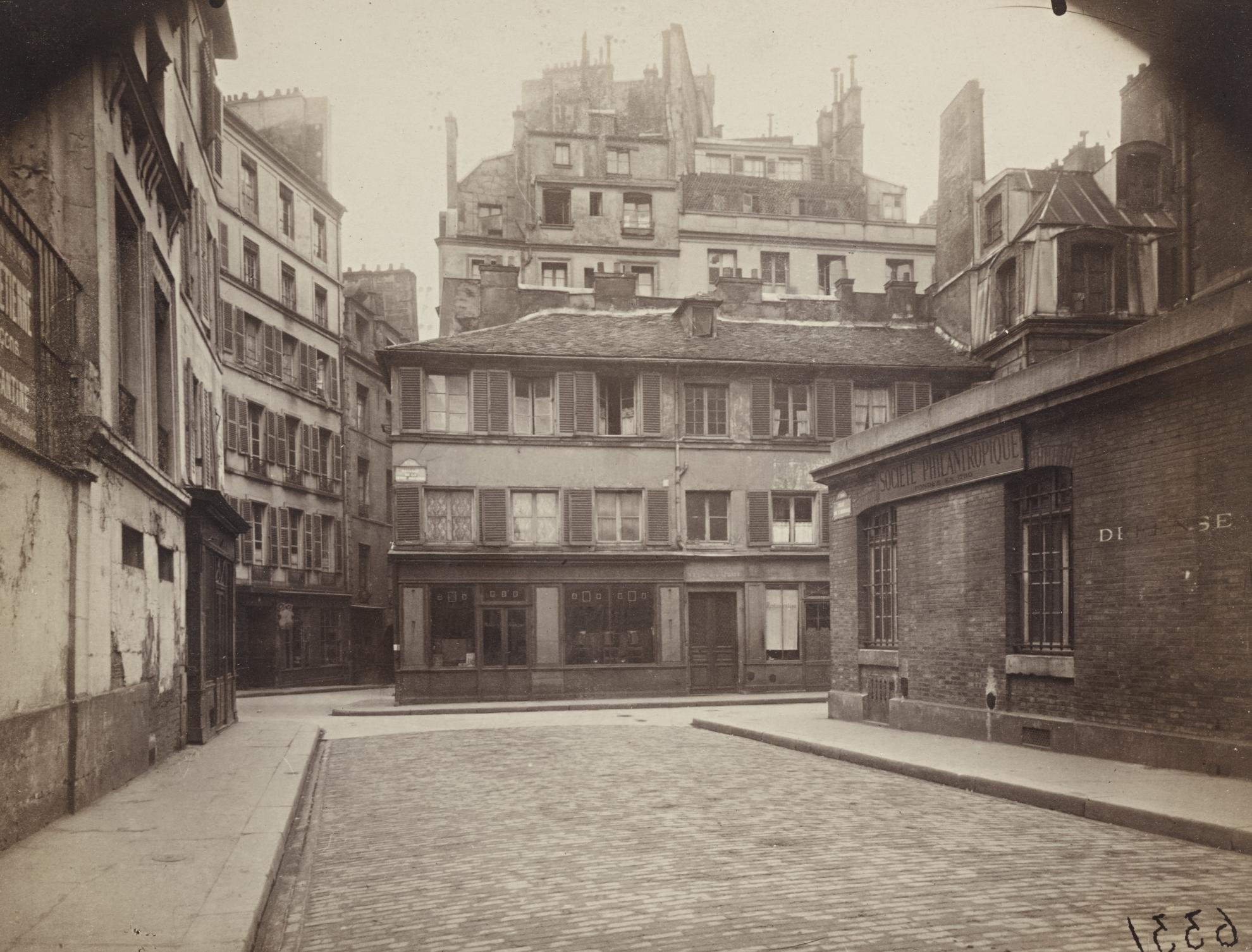 Eugene Atget-Coin Rue De Labbaye-1922