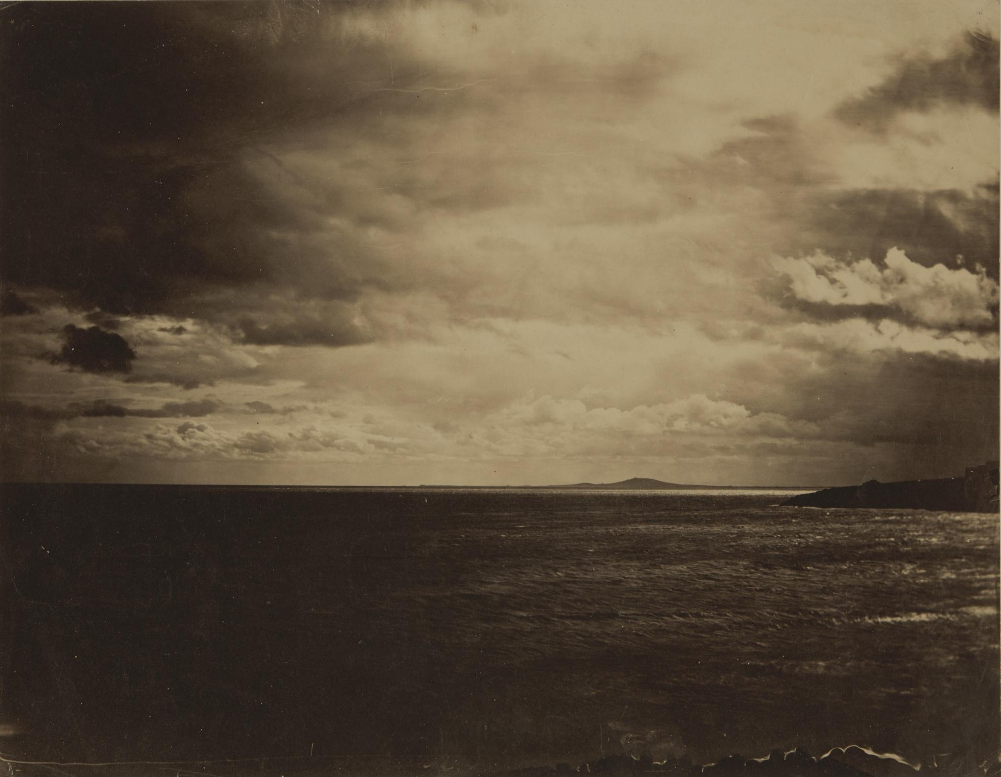 Gustave Le Gray-Ciel Charge - Mer Mediterranee (Cloudy Sky, Mediterranean Sea)-1857