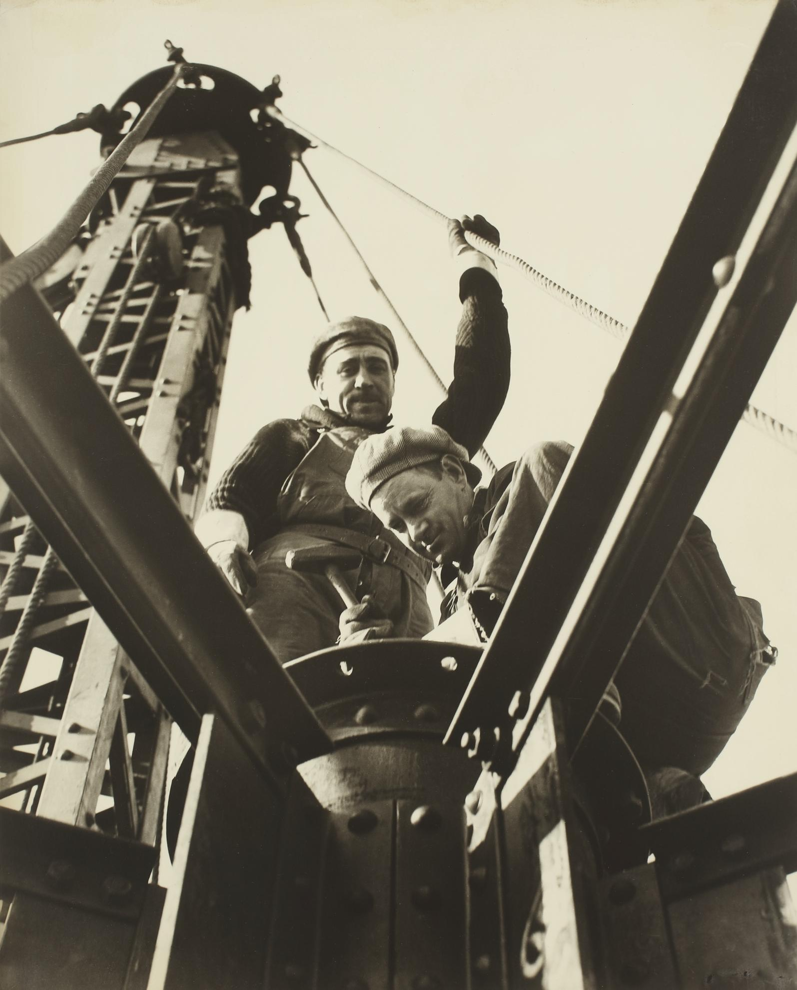 Lewis Wickes Hine-The Mcclain Brothers (On The Mooring Mast, Empire State Building)-1930