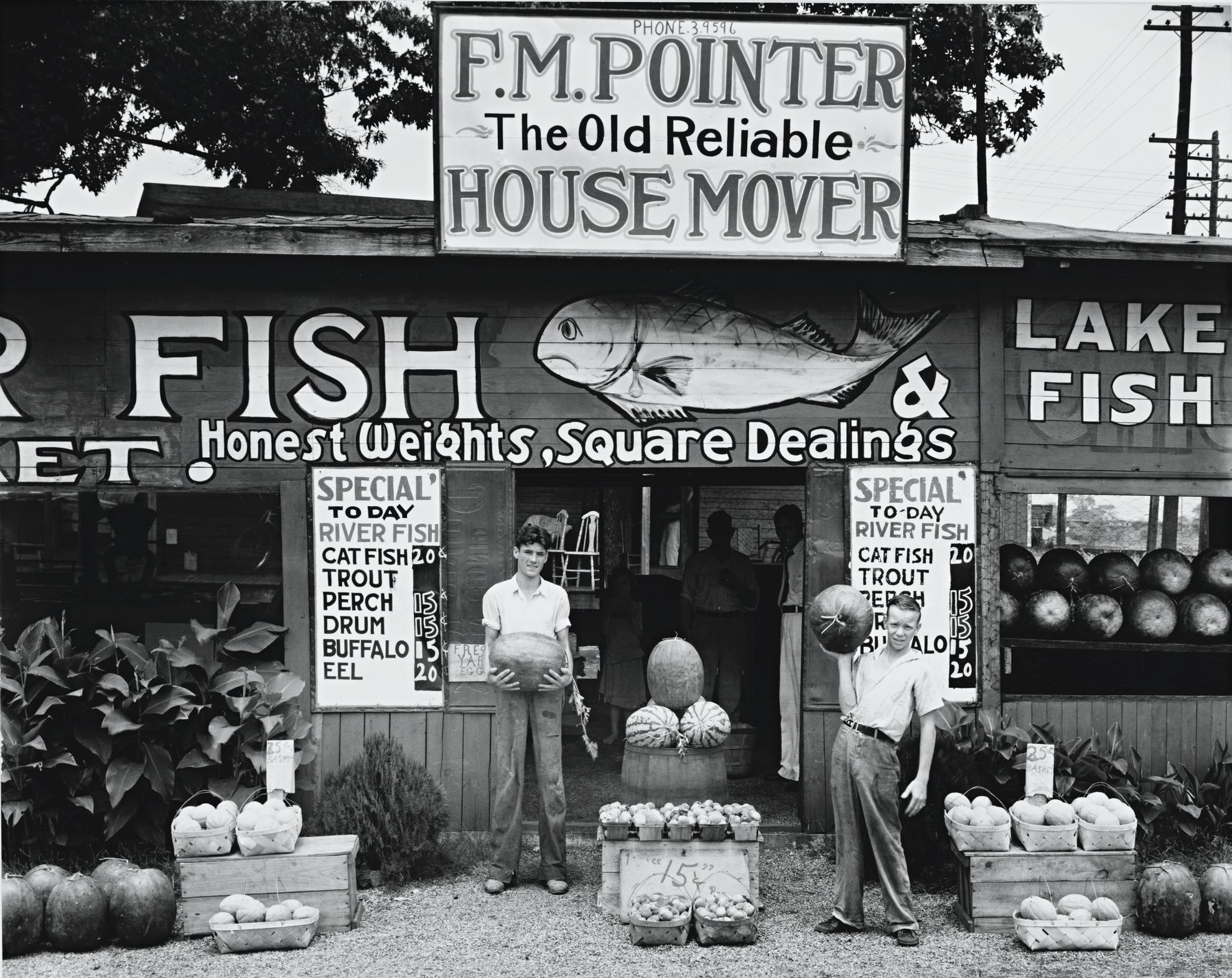 Walker Evans-Roadside Stand Near Birmingham, Alabama-1936