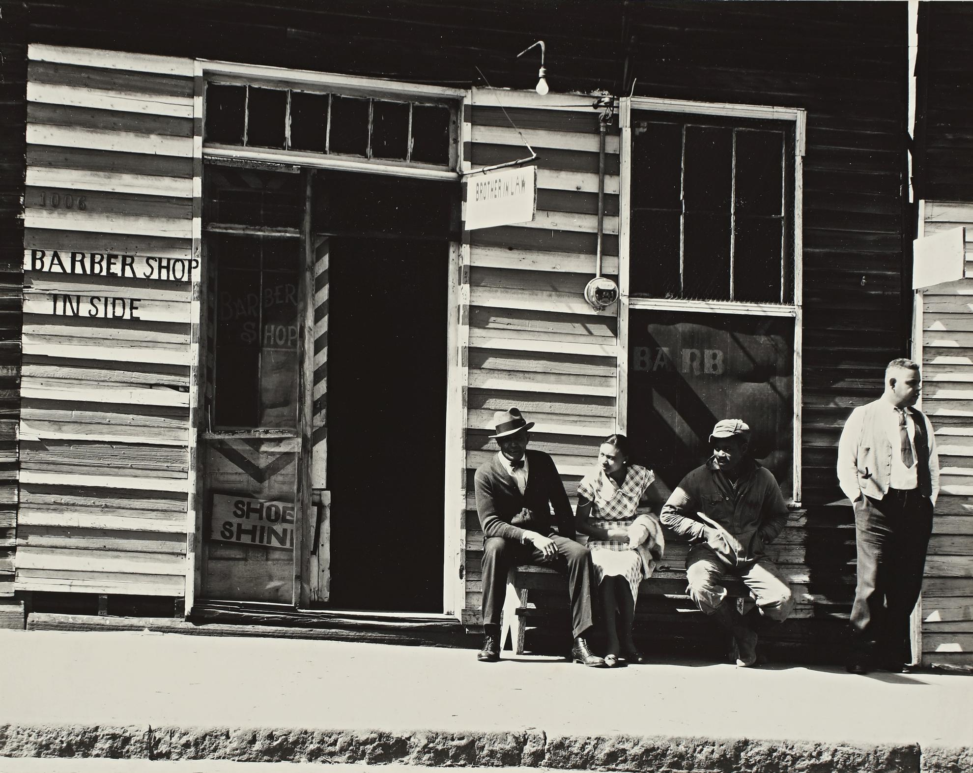 Walker Evans-Street Scene, Vicksburg, Mississippi, March 1936 (F. S. A., 134; MoMA, p. 124; Walker Evans at Work, p. 141)-1936