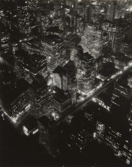 Berenice Abbott-New York At Night-1932