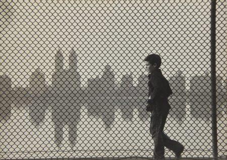 Ruth Orkin-Central Park Reservoir, Boy + Fence-1954