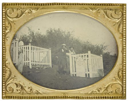 Anonymous American Photographer - Visiting The California Grave Of Solomon Harthorn-1853