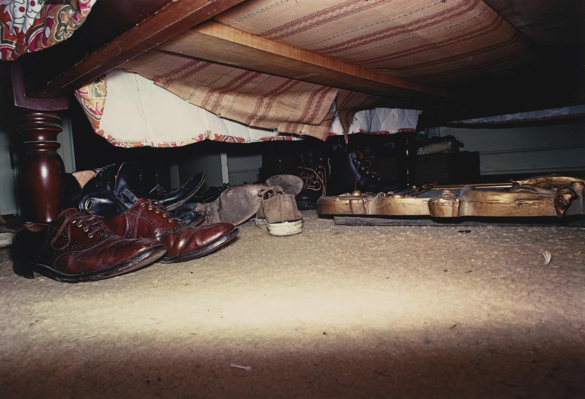 William Eggleston-Untitled (Shoes Under Bed)-1972