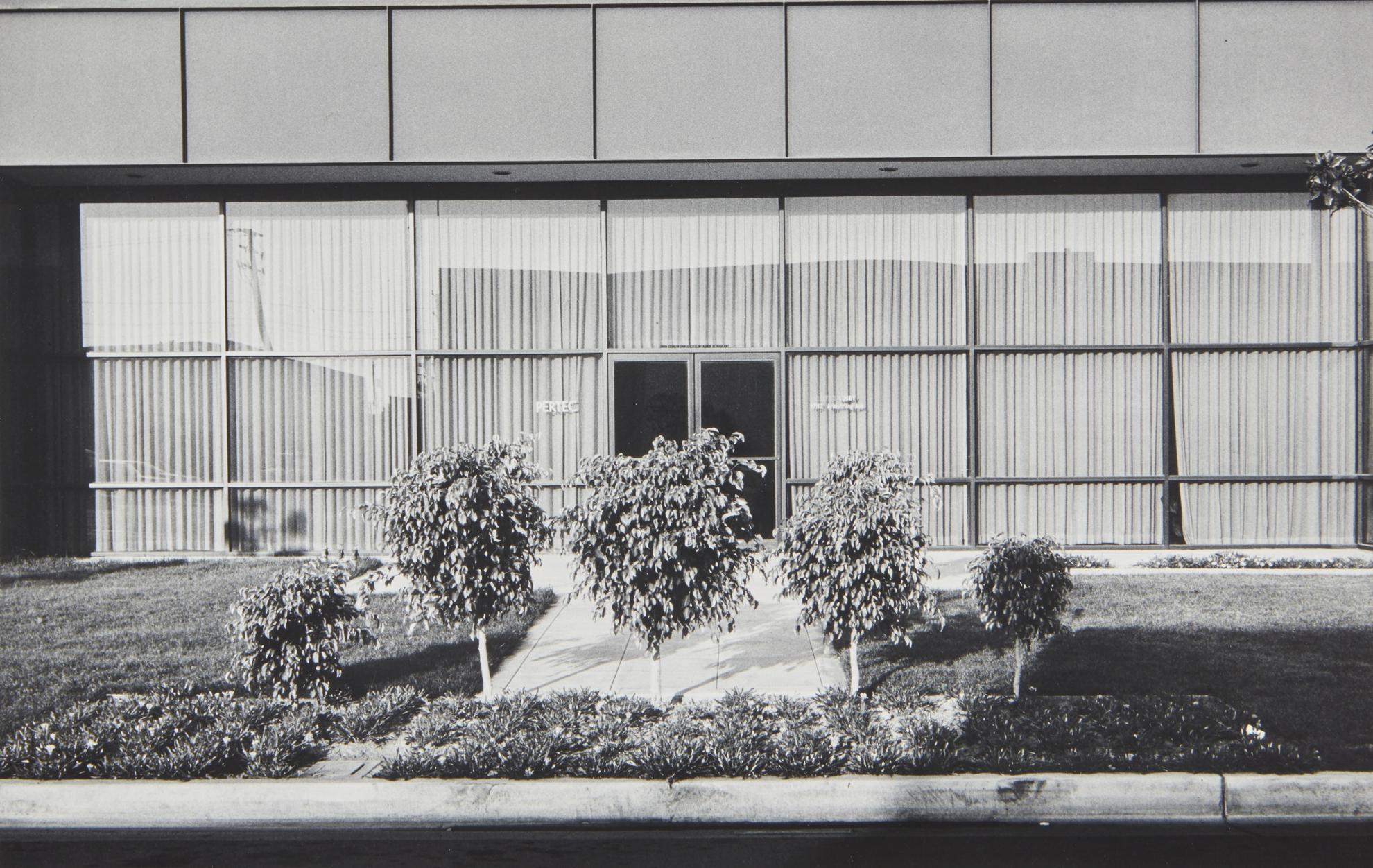Lewis Baltz-New Industrial Parks #37: East Wall, Business Systems Division, Pertec, 1881 Langley, Santa Ana-1974