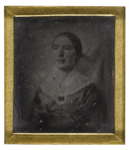 Anonymous American Photographer - Woman With Brooch-1840