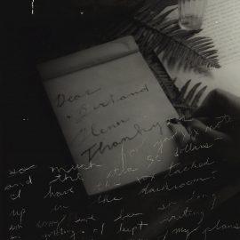 Francesca Woodman-Untitled (Thank You Letter)-1980