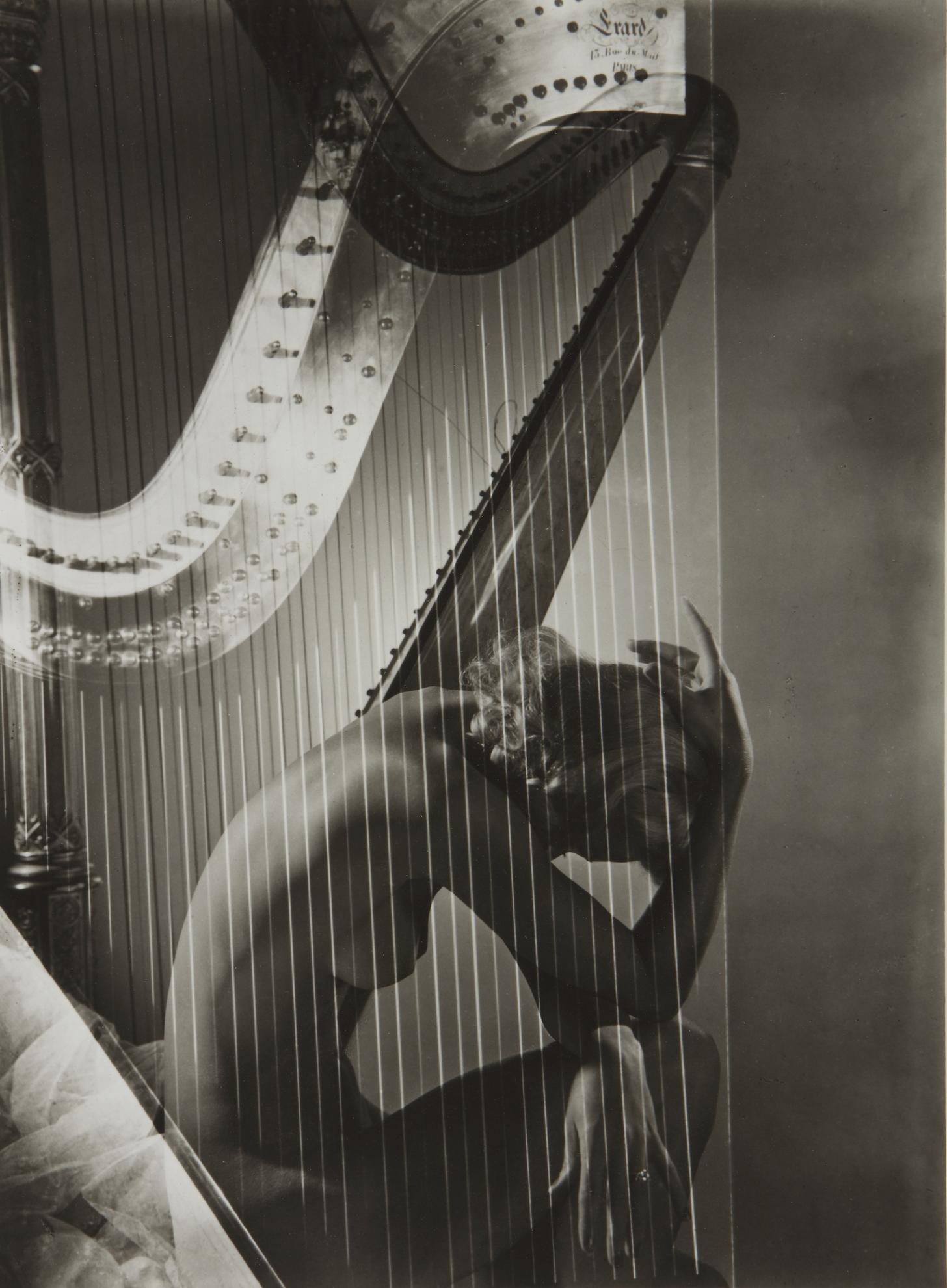 Horst P. Horst-Nude (Lisa And Harp, Paris)-1939
