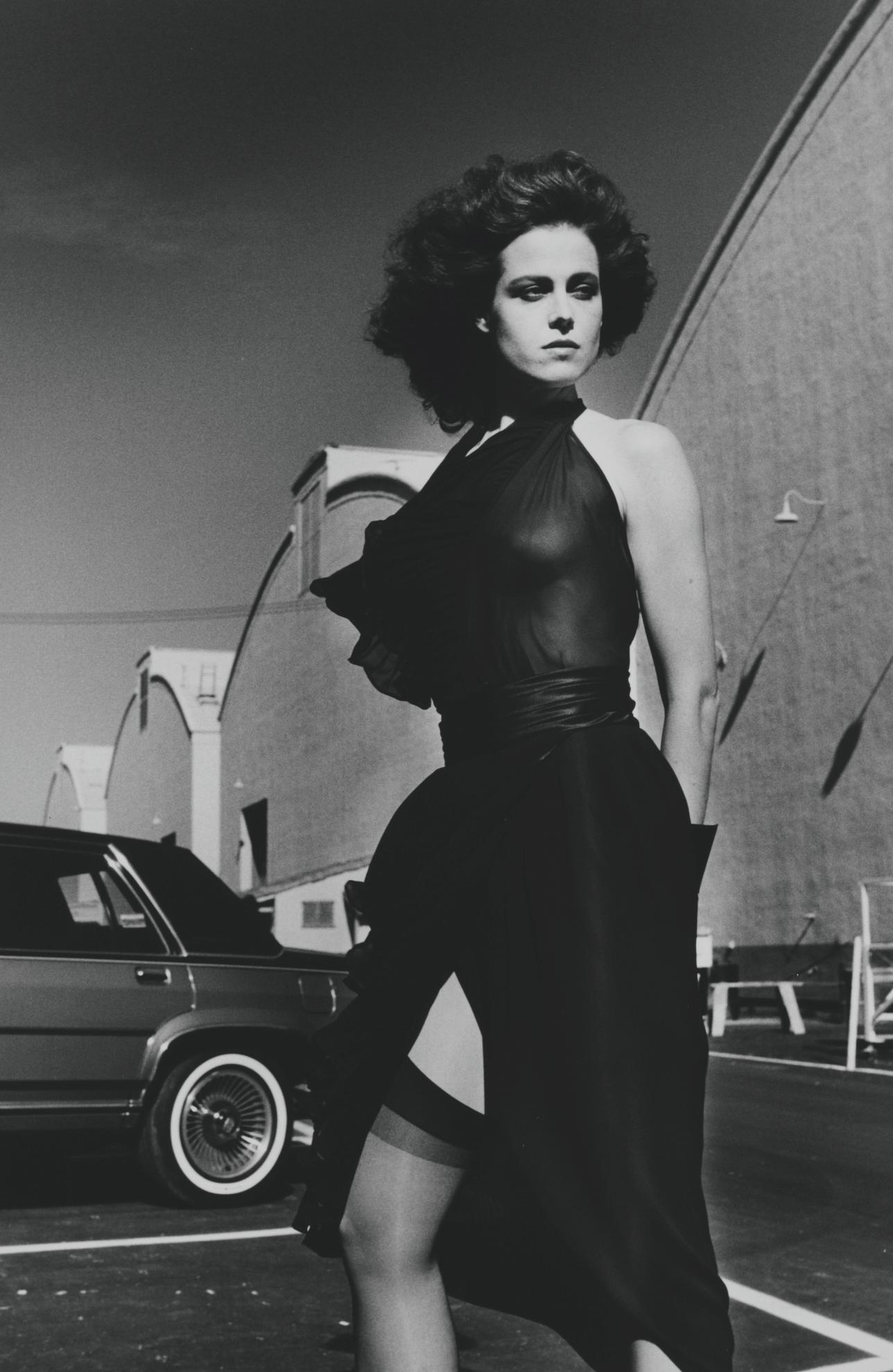 Helmut Newton-Sigourney Weaver On The Warner Bros. Lot, Burbank-1984