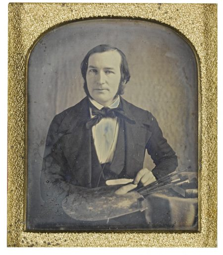 Anonymous American Photographer - The Artist And His Palette-1840