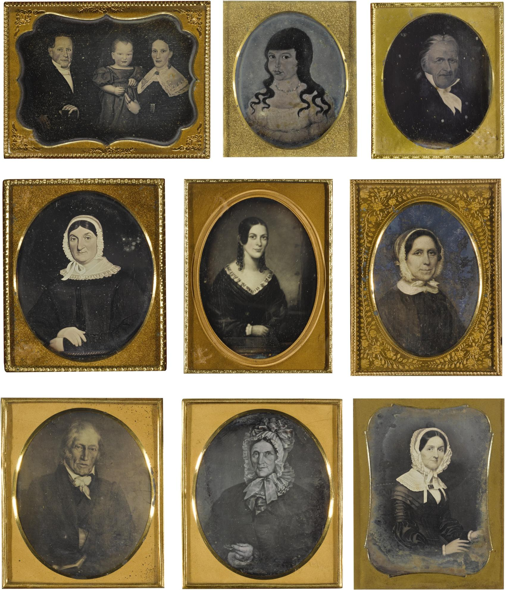 Anonymous American Photographers - Selected Images Of American Folk Paintings-1850