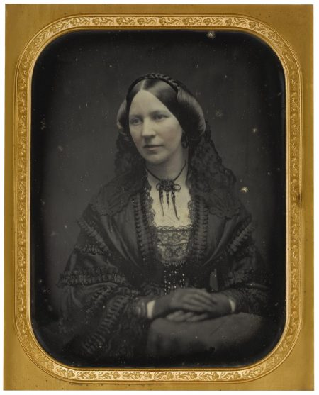 Anonymous American Photographer - A Finely Dressed Woman In Mourning Attire-1850