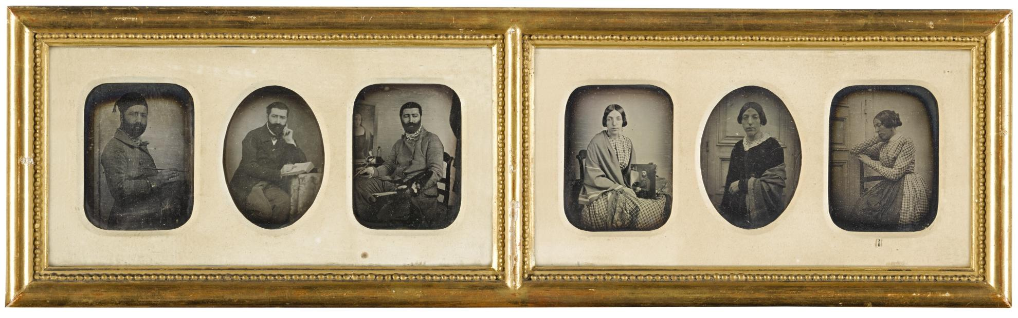 Anonymous French Photographer - The Artist And His Wife: A Narrative Portrait-1849