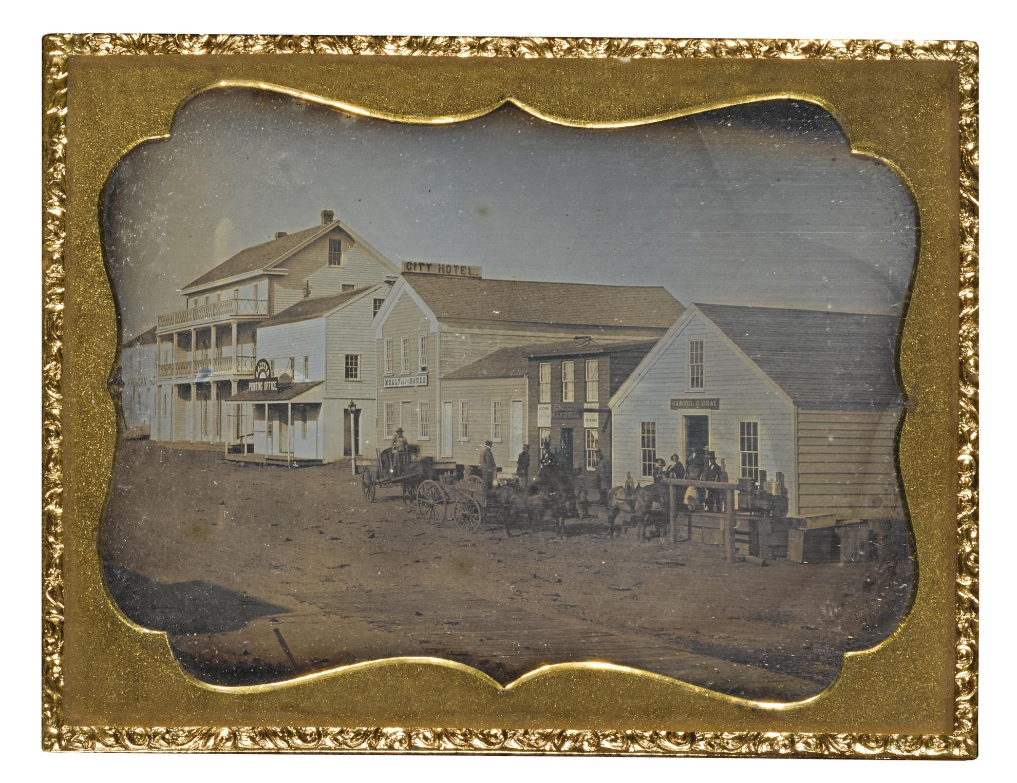 Attributed To Robert H. Vance - Street Scene In Benicia, Solano County, California-1850