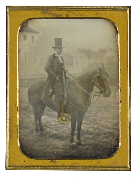 Attributed To Thomas Mcclelland - Jeremiah Wooden, Md, En Route To A House Call (Gosport, Indiana)-1854