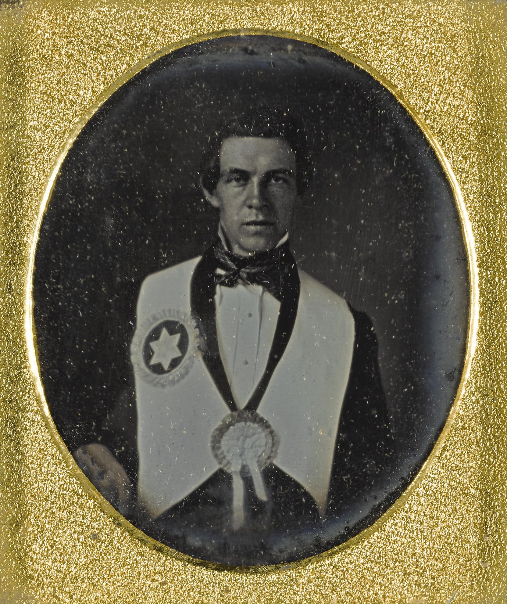 Anonymous American Photographer - Man In Fraternal Regalia-1840