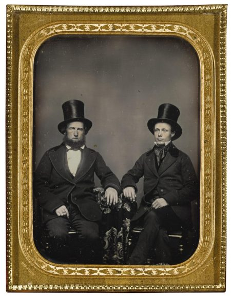 William Shew - A Pair Of Elegantly Dressed California Gentlemen With Top Hats-1854
