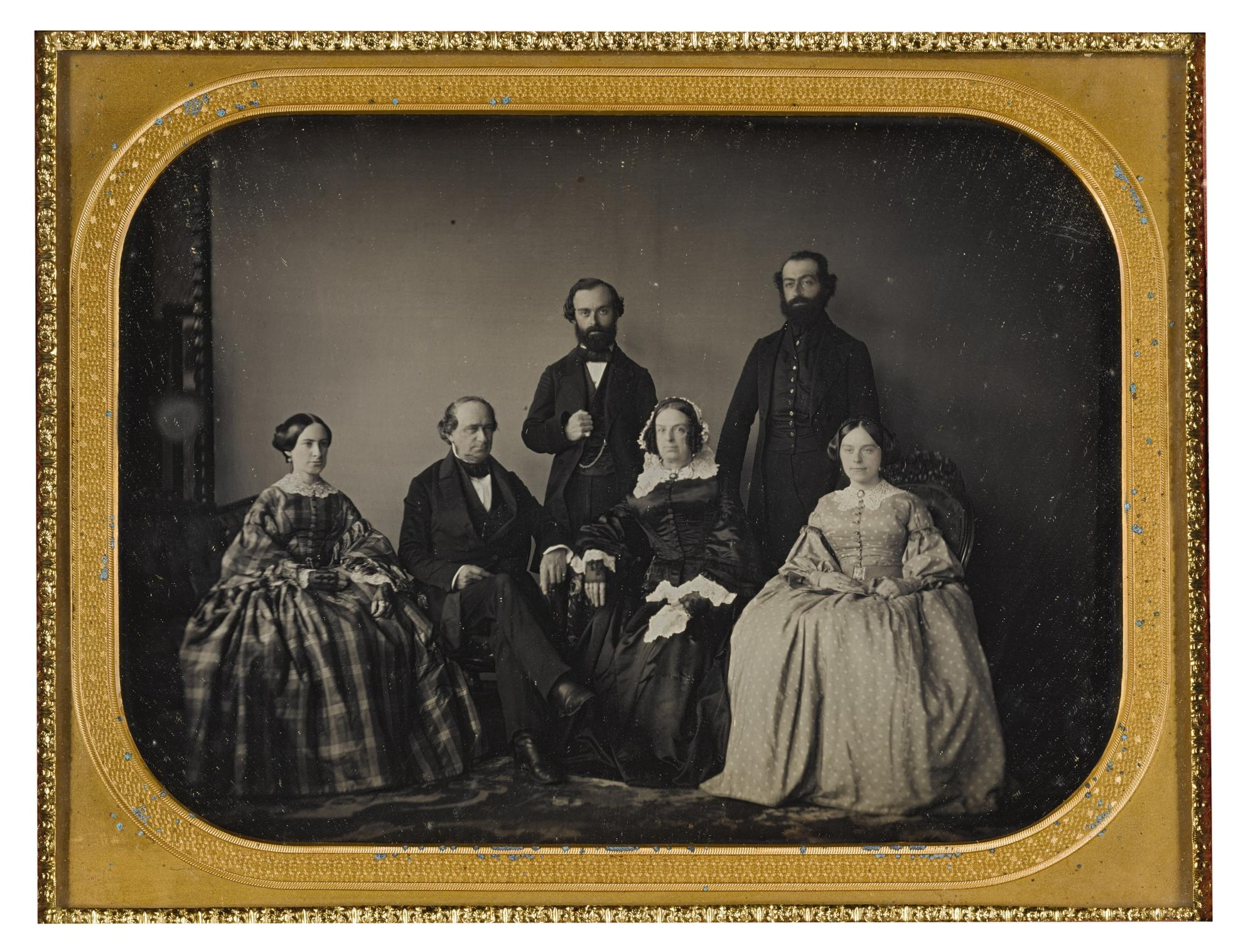 Anonymous American Photographer - The Richardson Family, Boston-1850