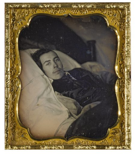 Anonymous American Photographer - Man On His Deathbed-1850