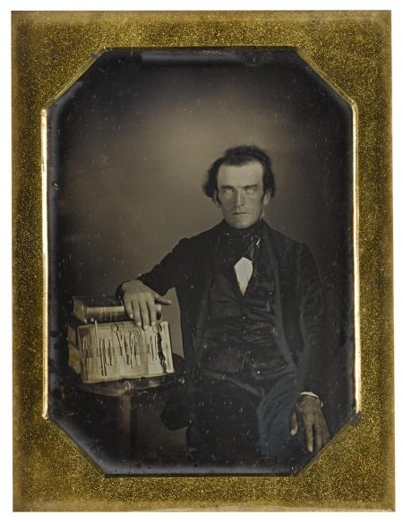 Anonymous American Photographer - Physician With His Operative Kit-1840