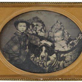 Nathan Burgess-Children With Saint Bernard-1850