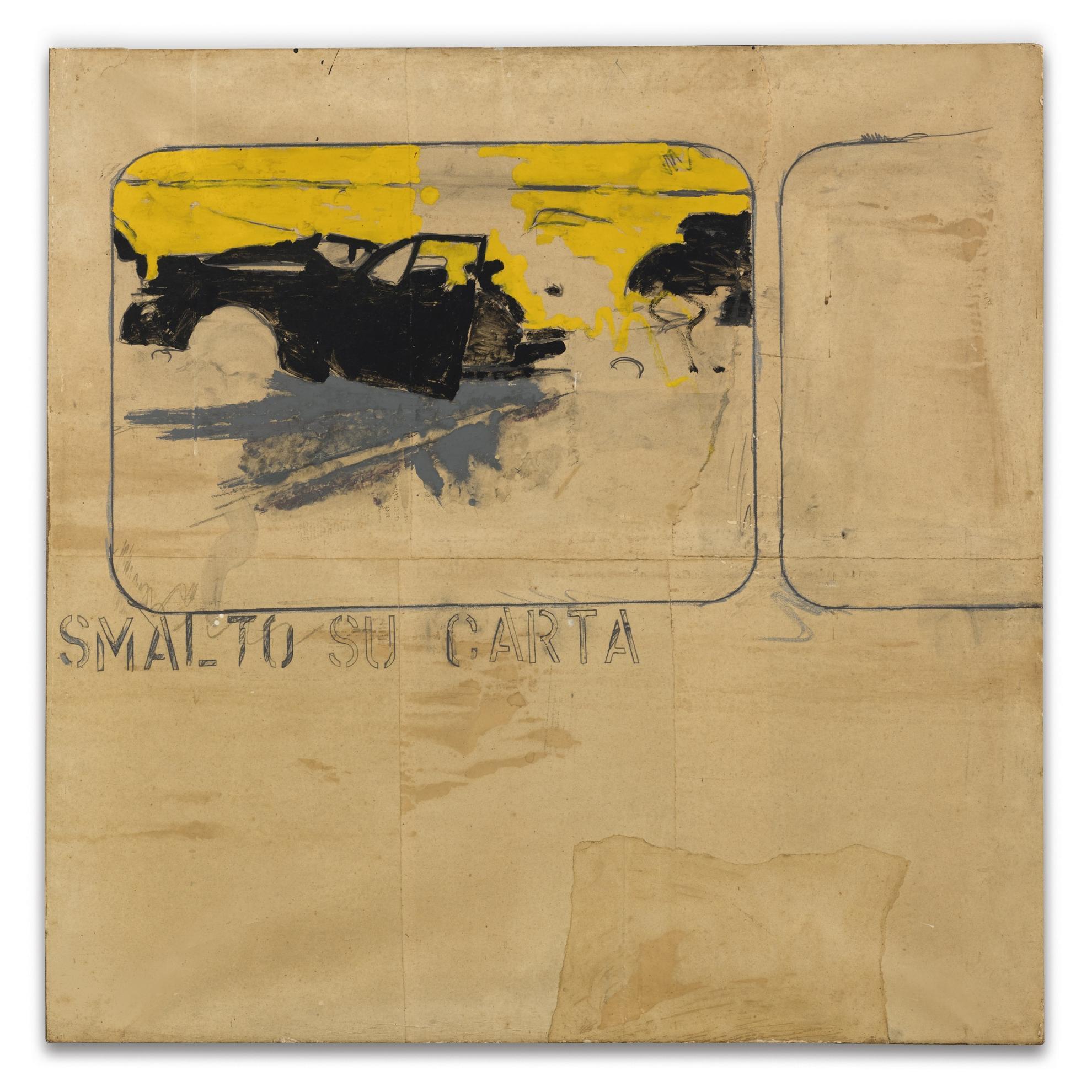Mario Schifano-Smalto Su Carta (Incidente)-1965