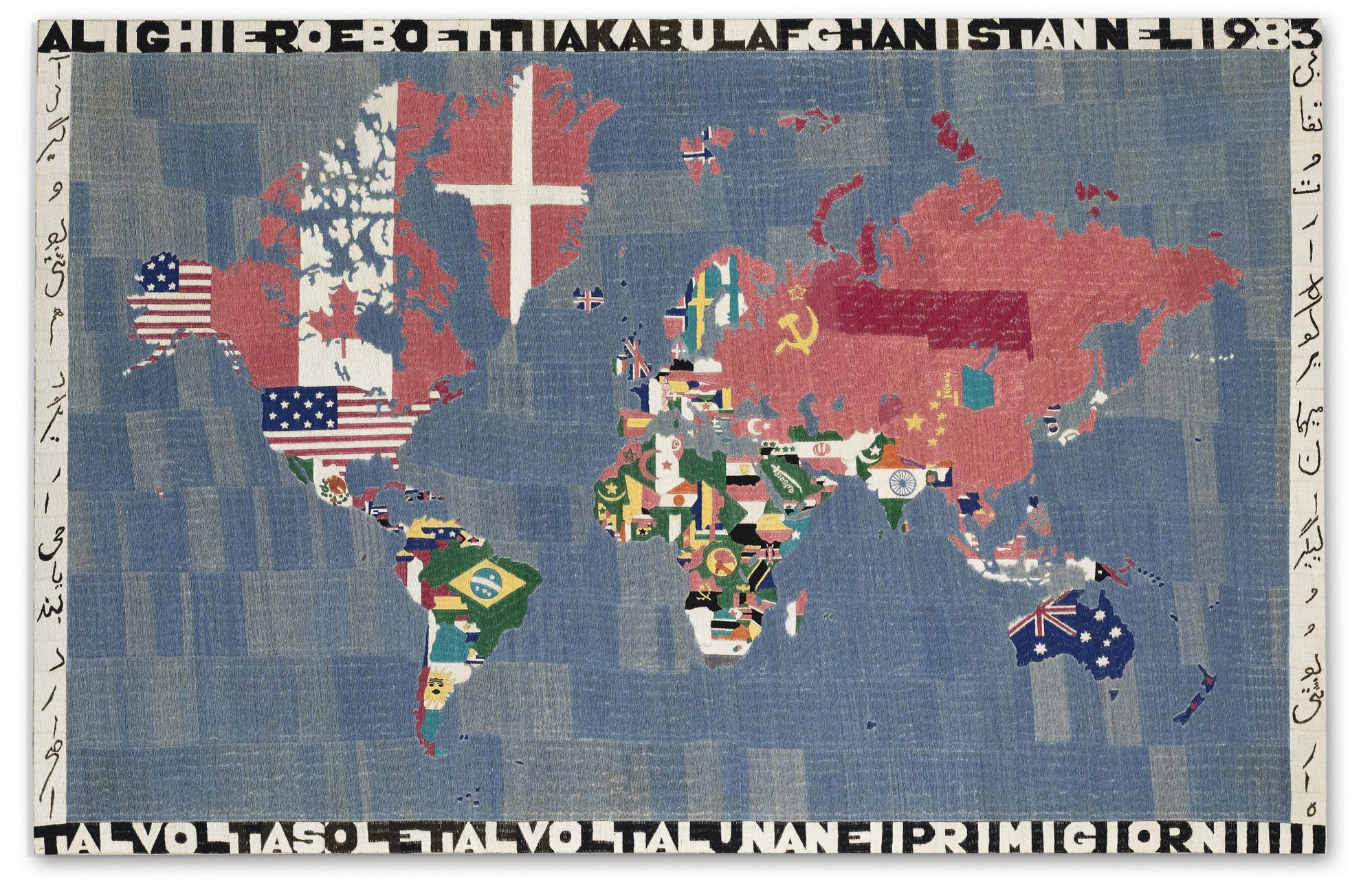 Alighiero Boetti-Mappa-1983
