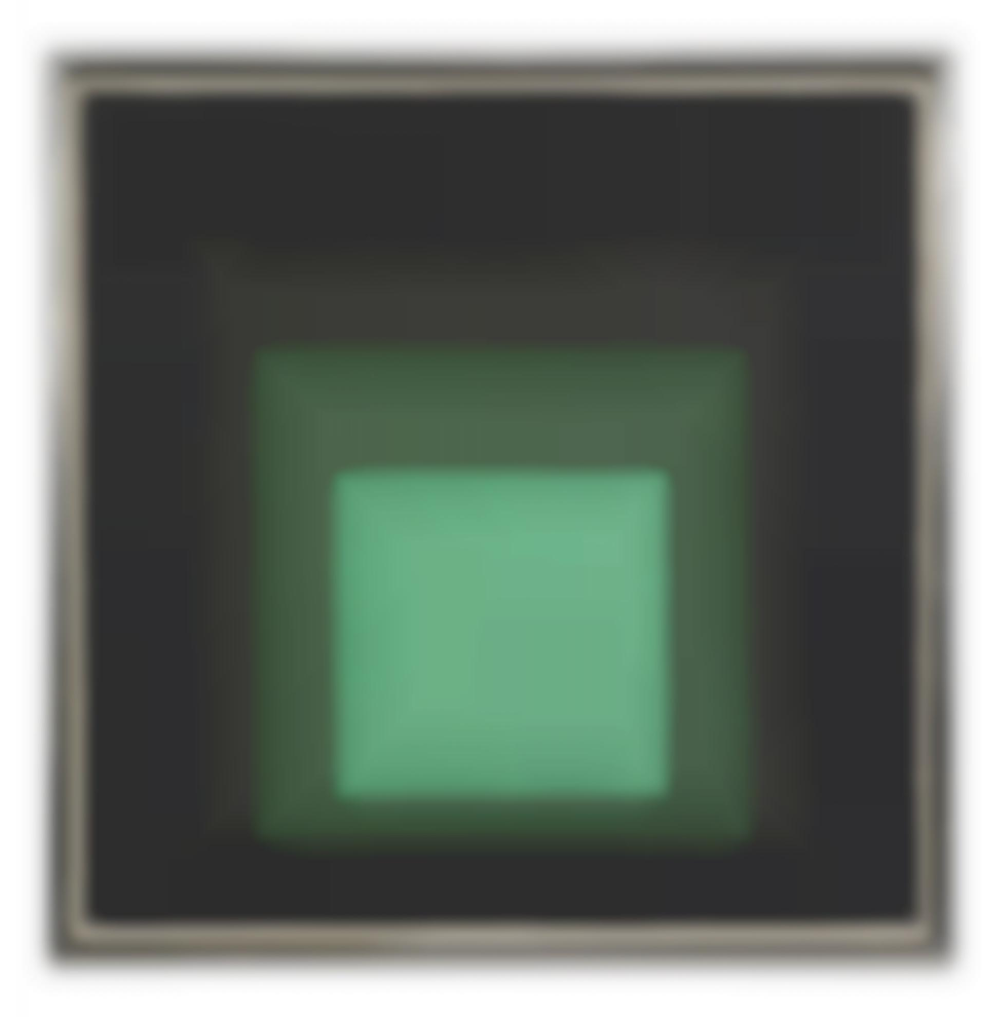 Josef Albers-Study To Homage To The Square: Green Opening-1958