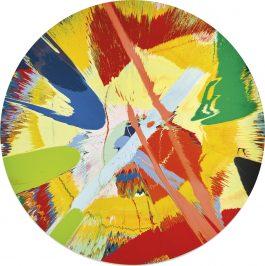 Damien Hirst-Beautiful Double Orange, Pastel, Slash Painting-1997
