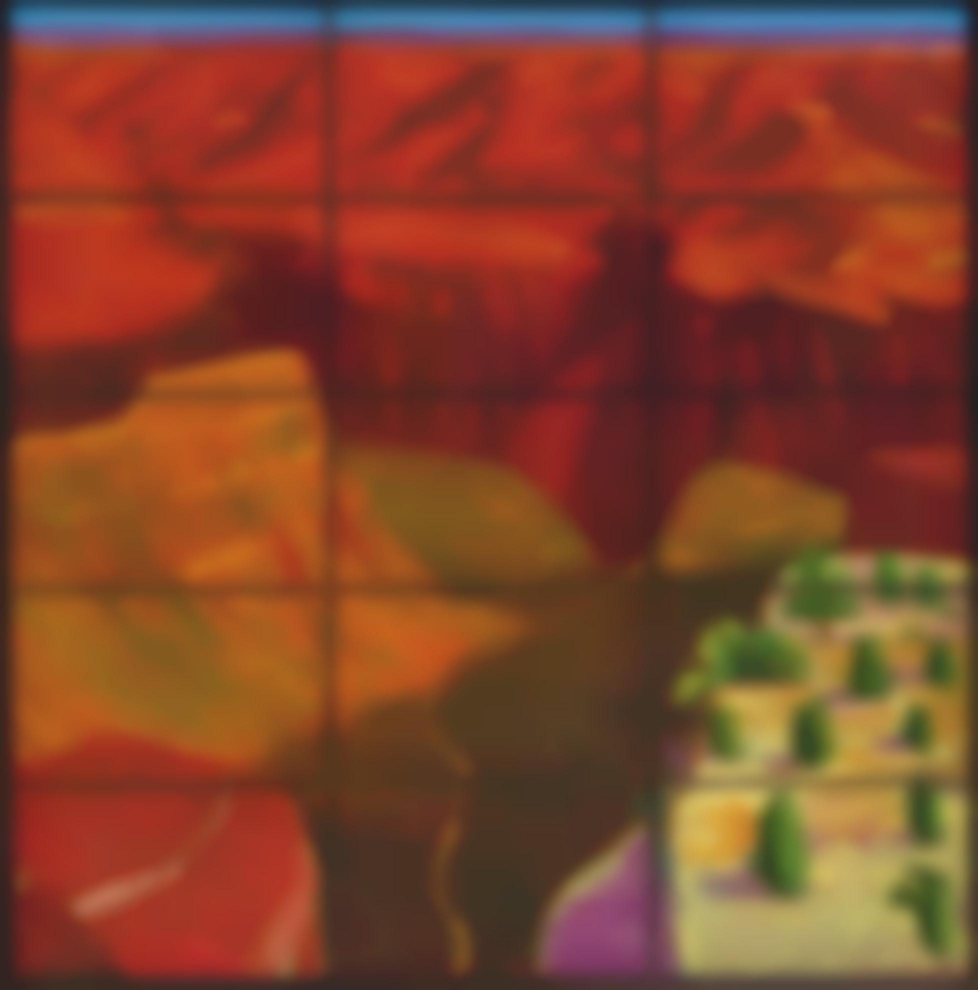David Hockney-15 Canvas Study Of The Grand Canyon-1998