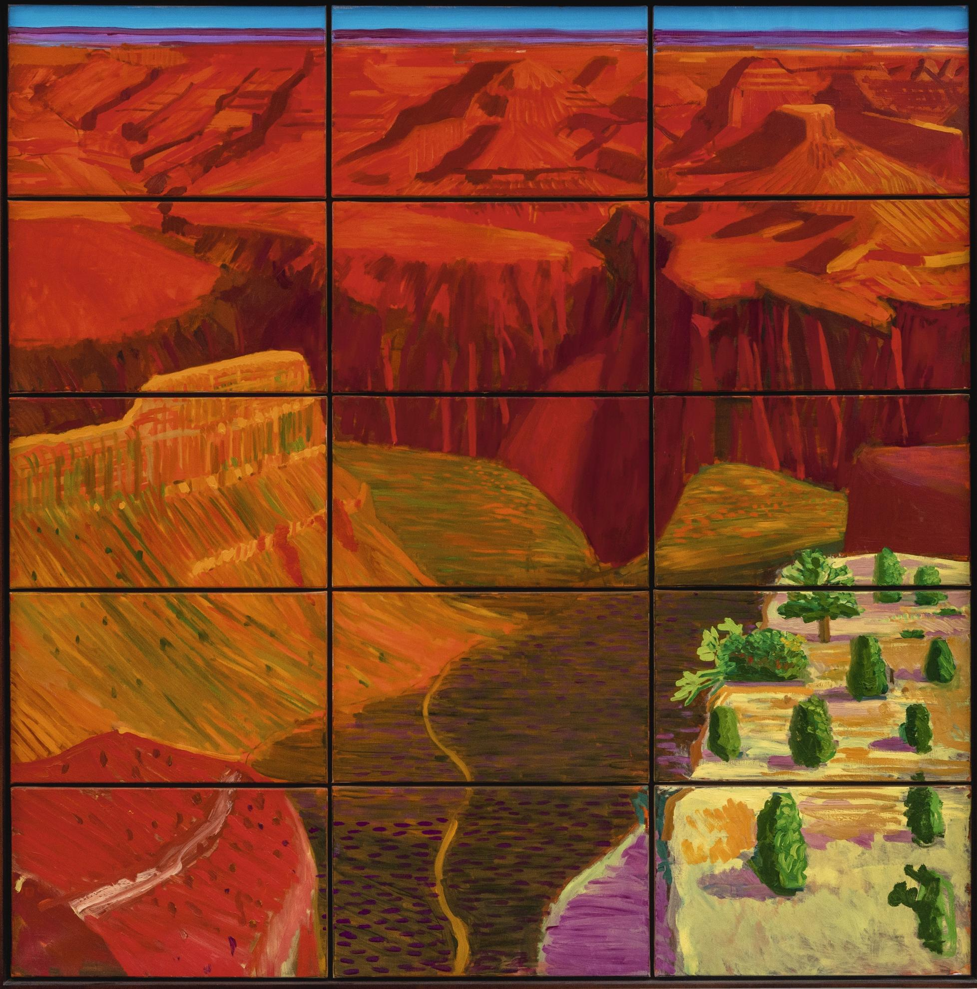 David Hockney-15 Canvas Study Of The Grand Canyon-1998