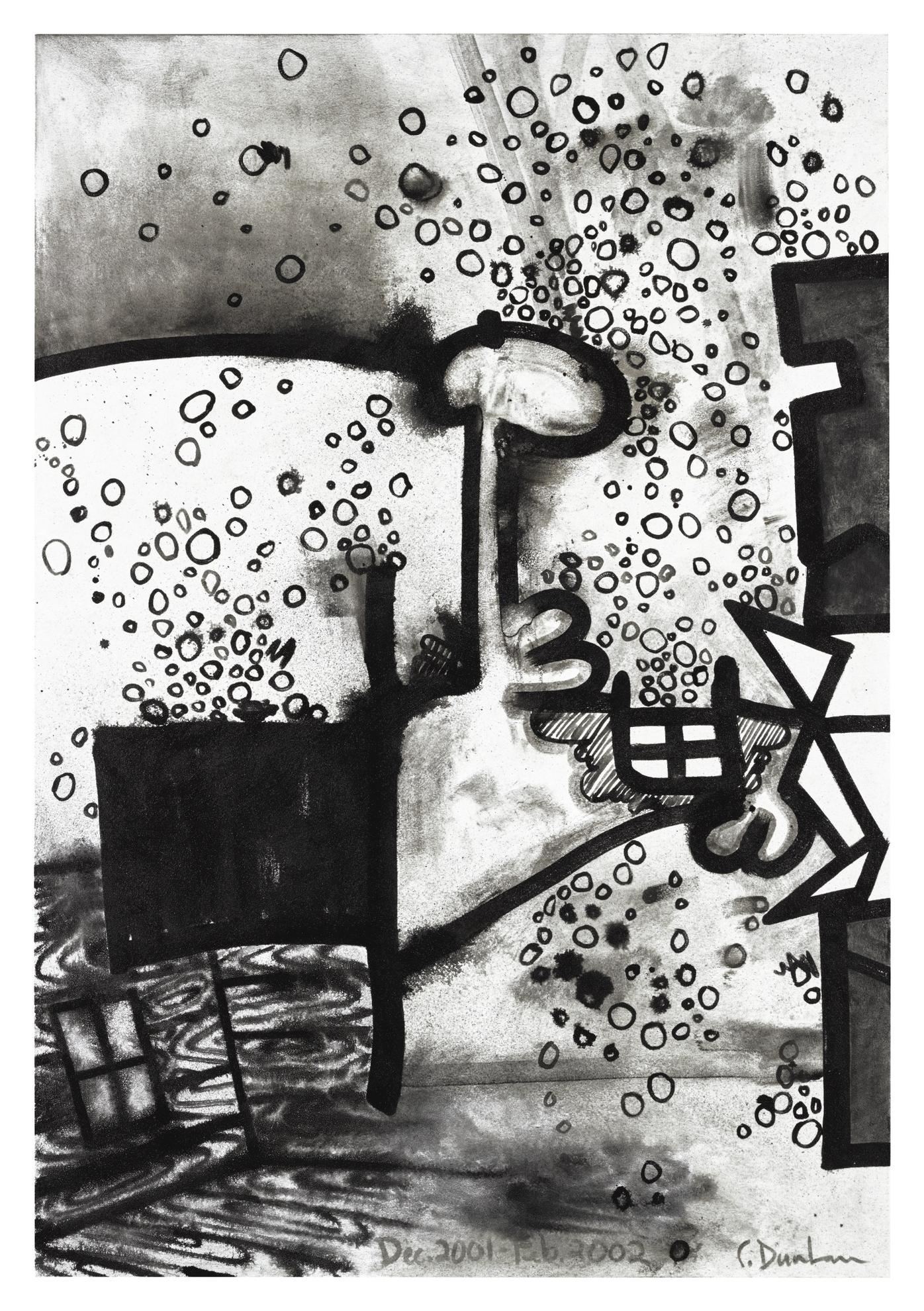 Carroll Dunham-Mesokingdom Thirteen (Dust)-2002