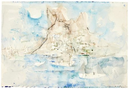 Zao Wou-Ki-Untitled (Barques A Ischia)-1953
