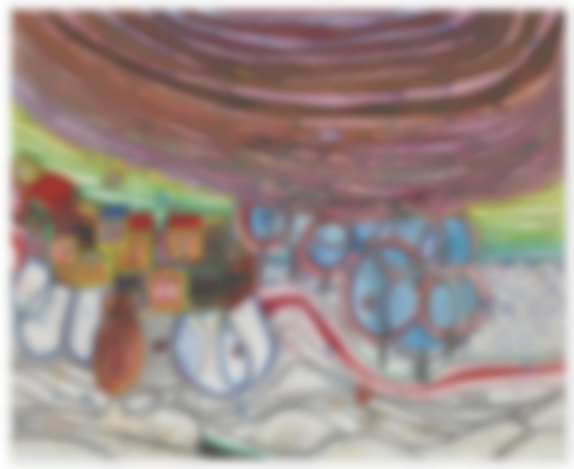 Friedensreich Hundertwasser-Die Hangende Wolke Im Winter - Die Schauspieler - Wintertournee (The Hanging Cloud In Winter - The Actors - Winter Tour)-1972
