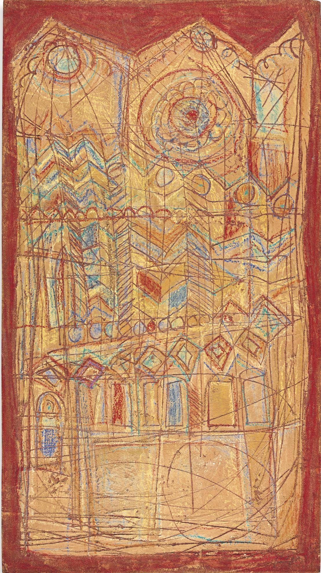Domenico Gnoli-The Cathedral-1960