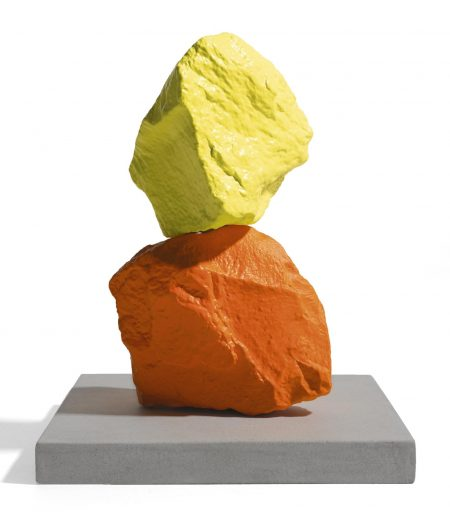Ugo Rondinone-Small Orange Yellow Mountain-2014